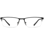 Jayson Half Rim Metallic Square Frame With Prescription Lenses