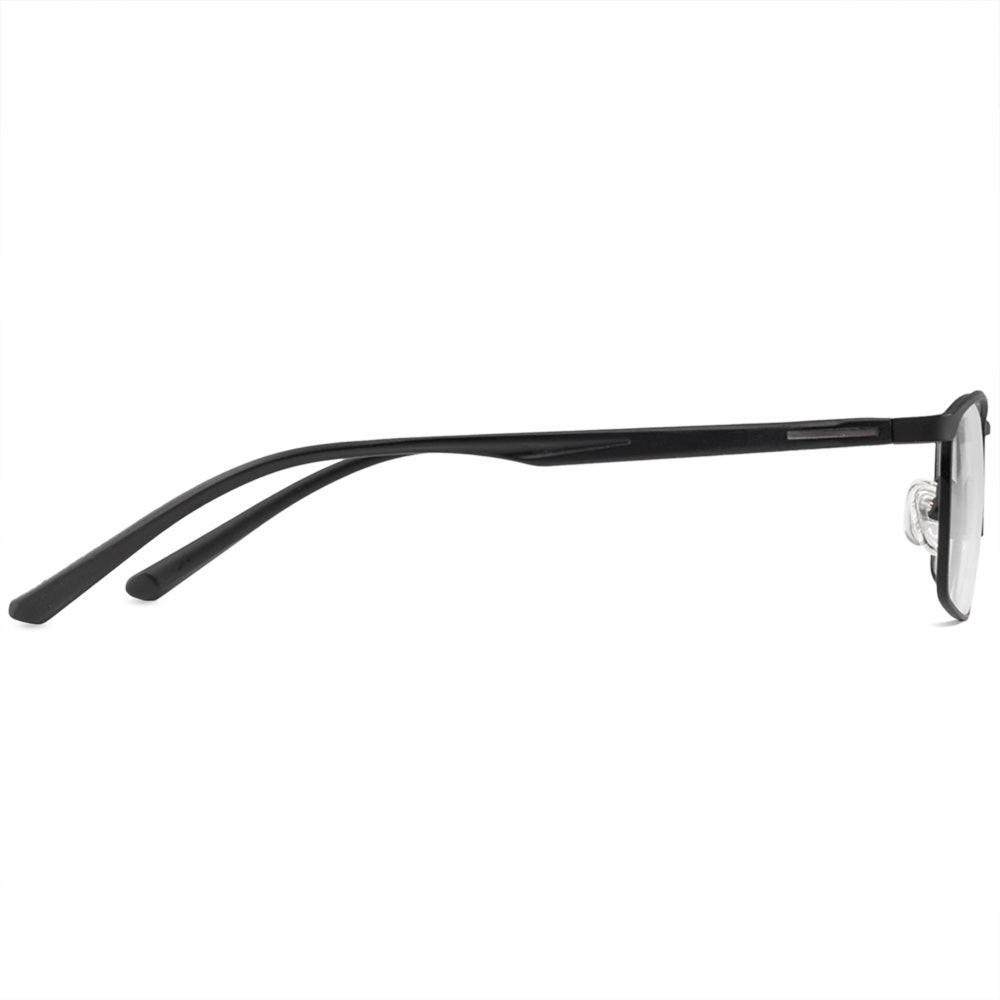 Michael Full Rim Metallic Square Frame With Prescription Lenses | Charm Optical