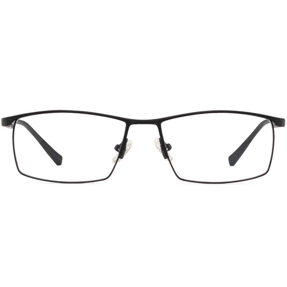 Michael Full Rim Metallic Square Frame With Prescription Lenses