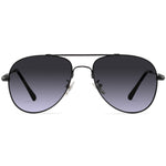 Howell Full Rim Metallic Aviator Sunglasses With Prescription Lenses