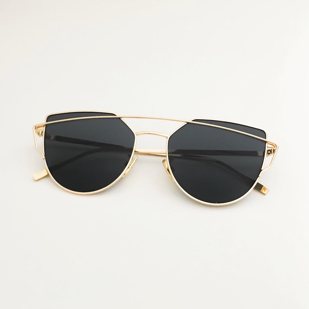 Greg Full Rim Metallic Sunglasses With Prescription Lenses