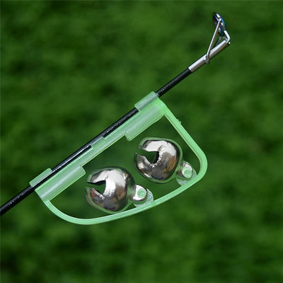 FLUORESCENT FISHING ROD POLE TIP CLIP TWIN BELL ALARM