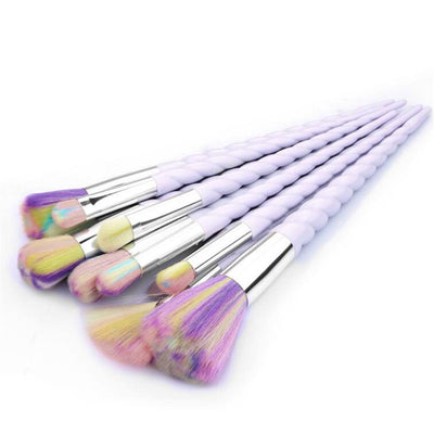 10 PCS PURPLE SPIRAL UNICORN BRUSH SET