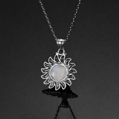 MAJESTIC SUN NATURAL MOONSTONE NECKLACE