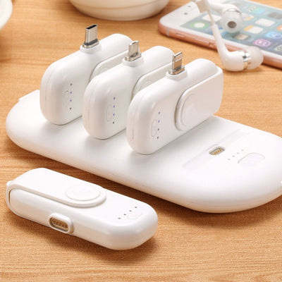 Portable Power Bank Charger - Mini Magnetic Charging Packs For iPhone Samsung Xiaomi