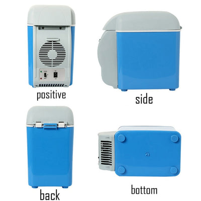Dual Function 7.5L Mini Car Refrigerator Food and Beverage Cooler and Warmer