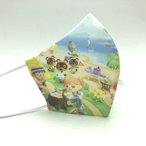 Tipo A - Mascarilla ANIMAL CROSSING + salva-orejas de regalo - UNE 0065:2020 | CLAPPER |  >> Reutilizable + lavable