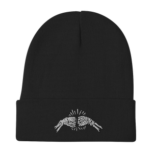 Fist Bump Embroidered Beanie