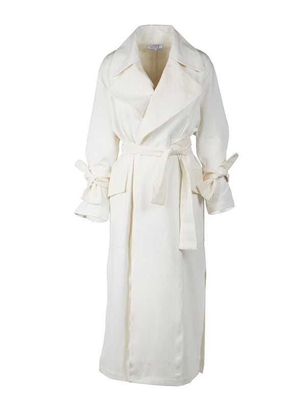 ACOLÉ SMITH TRENCHCOAT Jakker 110 Creme