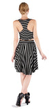 BLACK STRIPE SKATER DRESS