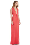 DEEP V NECK MAXI DRESS
