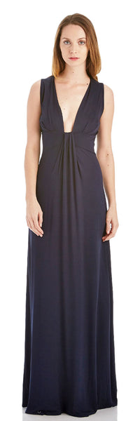 PLUNGING NECK MAXI DRESS