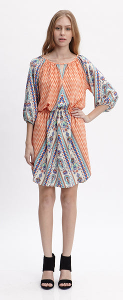 KARA ORANGE PRAIRIE DRESS