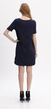 DANA NAVY SHIFT DRESS