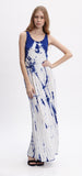 ROYAL BLUE TIE DYE MAXI DRESS