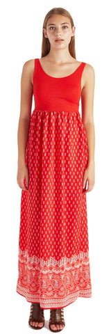 MIKA RED OPEN BACK MAXI DRESS