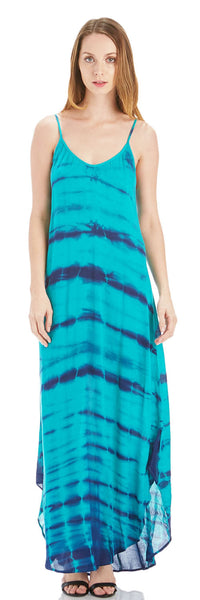 TIE DYE HIGH LOW MAXI DRESS