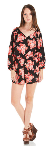 RED BLOSSOM ROMPER