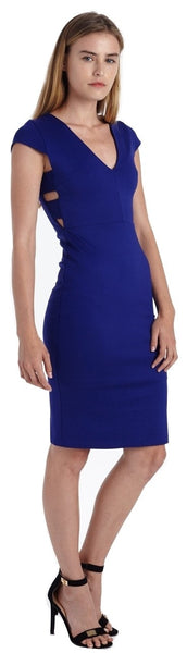 SIDE OPEN BODY CON MIDI DRESS