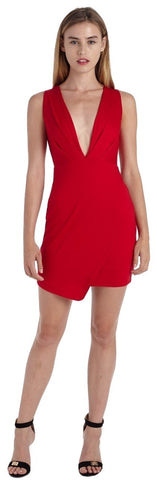 PLUNGING DEEP V MINI DRESS