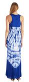 TIE DYE EMPIRE WAIST MAXI DRESS