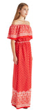 OFF SHOULDER WOVEN MAXI DRESS