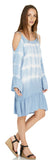 TIE DYE COLD SHOULDER PRAIRIE DRESS