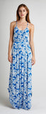 PALM BLUE OPEN BACK MAXI DRESS