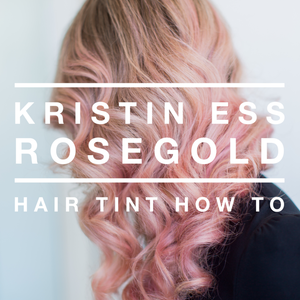 Product Review: Kristin Ess Rosegold Hair Tint