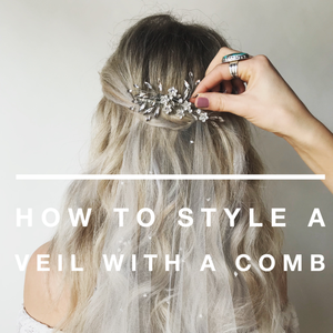 How to Style a Veil with a Comb