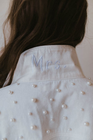 Posy WHITE Mrs Jacket - PRE ORDER FOR NEXT BATCH