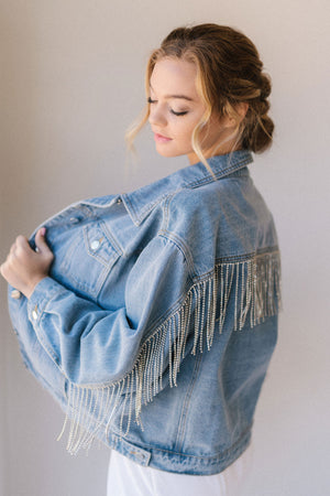 Selena Rhinestone Fringe Jacket - READY TO SHIP