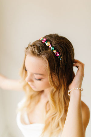 Rock Crystal Headband - Multi