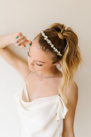 Rock Crystal Headband - Clear
