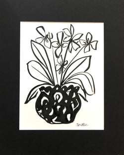 Matted Orchid Sketch I