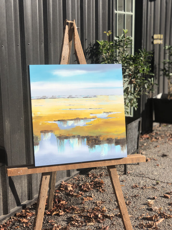 Wide Sky by Lindsay Jones, on easel
