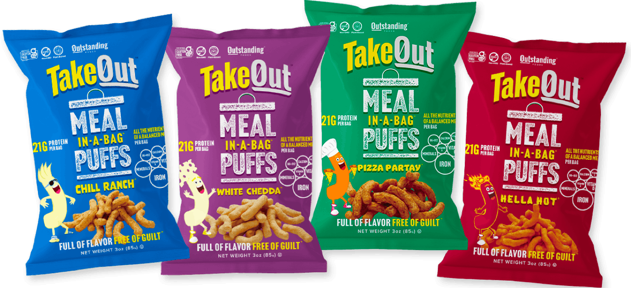 TakeOut Puffs - Variety 4pack