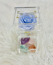 Load image into Gallery viewer, Clear Acrylic Box With Crystal Set