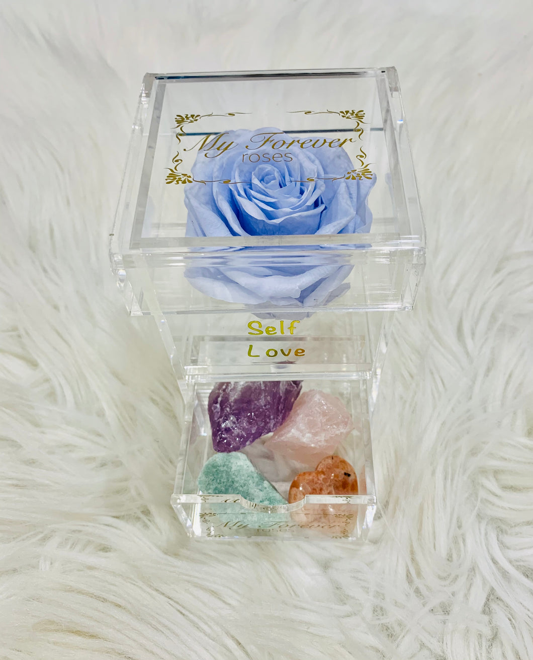 Clear Acrylic Box With Crystal Set