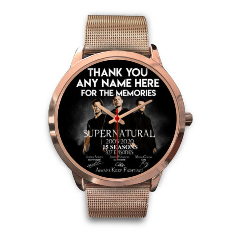 15 Seasons - PERSONALIZED Rose Gold Watch