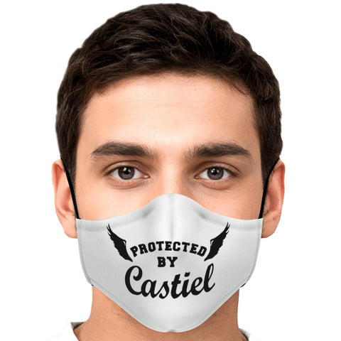 Protected by Castiel Mask White