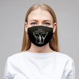 Team Free Will Black Cloth Face Mask