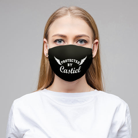 V - PROTECTED BY CASTIEL Black Cloth Face Mask
