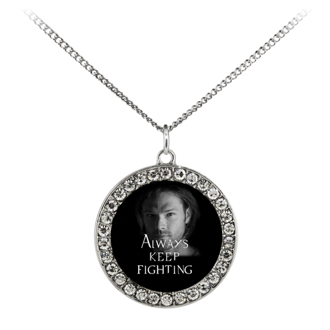Sam (Keep Fighting) - Limited Edition Stone Coin Necklace