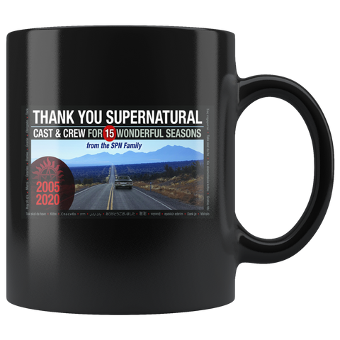 Thanks Your Supernatural Mug