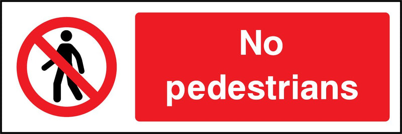 No pedestrians. Sign