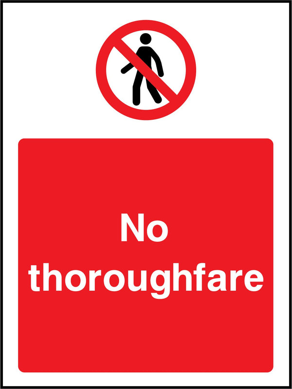 No throughfare. Sign