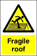 """Fragile roof."" Sign"