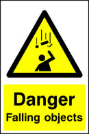 """Danger. Failing objects."" Sign"