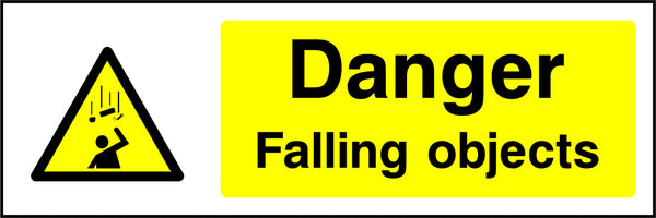 """Danger. Falling objects."" Sign"
